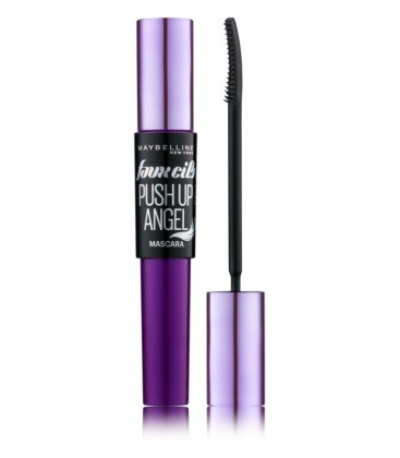 Mascara effet Faux-Cils PUSH UP ANGEL VERY-BLACK de Maybelline New York